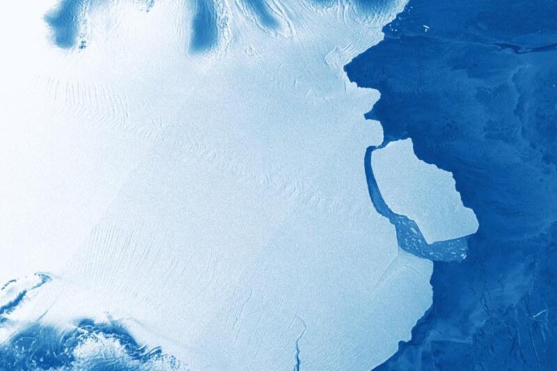 El iceberg se desprendió totalmente de la plataforma de hielo Amery ubicada al este de la Antártida el pasado día 25 de septiembre.