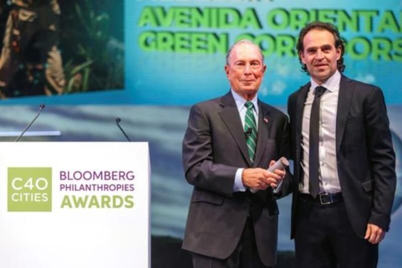Este premio fue entregado durante la Cumbre Mundial de Alcaldes C40 que se realiza en Copenhague, Dinamarca, entre el 9 y el 12 de octubre.