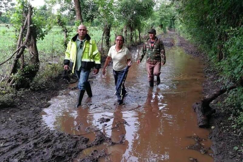 Según el informe de Sinapred, 528 viviendas fueron afectadas por el temporal, 4 de ellas totalmente destruidas, además de tramos de carretera.