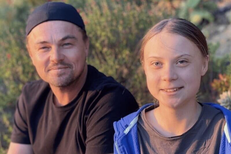 El actor compartió una foto de sí mismo con la activista del cambio climático en Instagram, donde elogió a la joven por su trabajo.