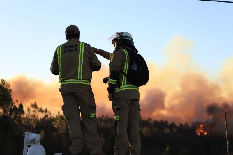 Al menos 245 casas en las afueras de la ciudad chilena de Valparaíso quedaron destruidas por un voraz incendio forestal que comenzó el martes 24.