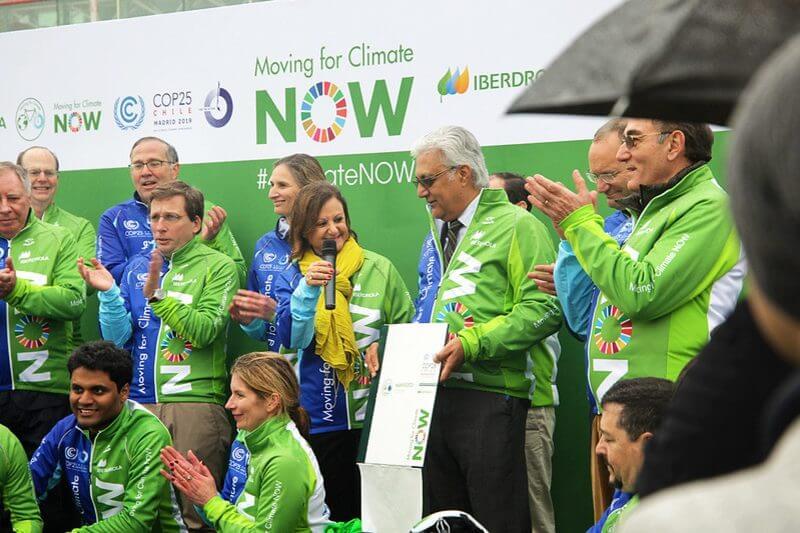 La iniciativa ciclista, llegó este domingo a laCumbre del Clima, que arrancó el lunes en Madrid bajo la presidencia de Chile.