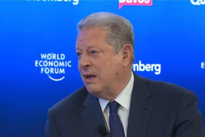 """El ex vicepresidente de EE.UU. dijo en el Foro de Davos que la crisis climática está empeorando """"mucho más rápido"""" de lo que la mayoría de la gente piensa."""