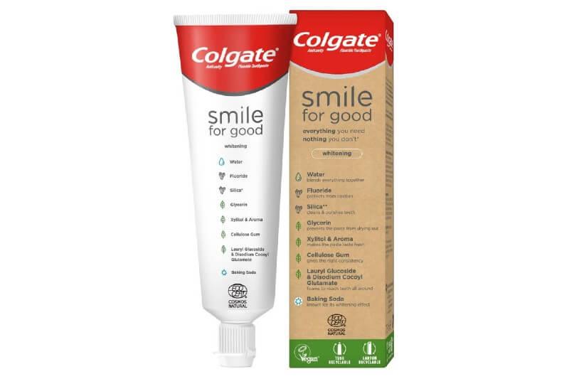 El nuevo tubo Smile for Good está hecho de polietileno de alta densidad, el mismo plástico utilizado para crear los jarros de leche.