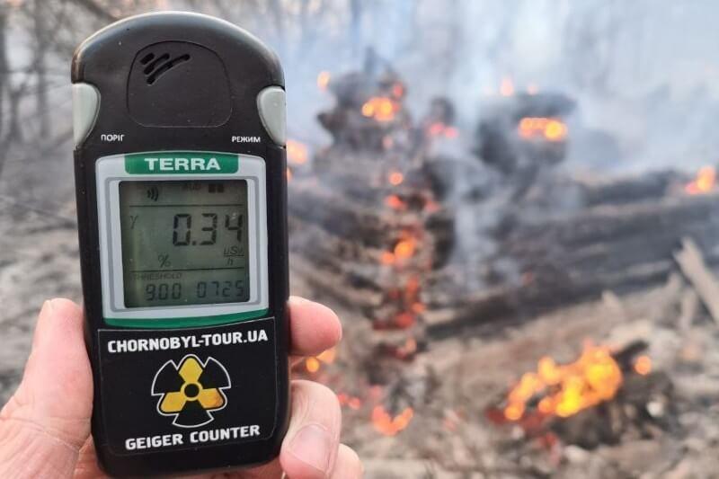 Un incendio forestal en Chernobyl aumentó la radaición de a zona.