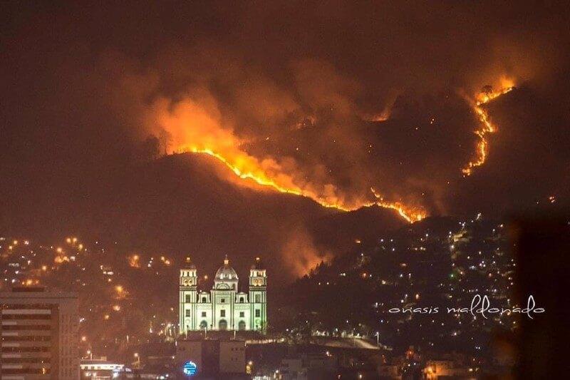 Incendio forestal en Honduras
