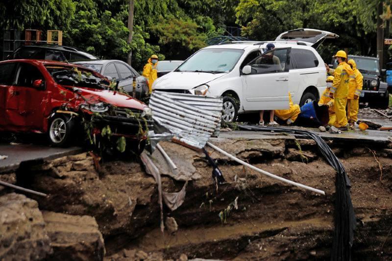 El Salvador y Guatemala sufren daños tras tormenta Amanda