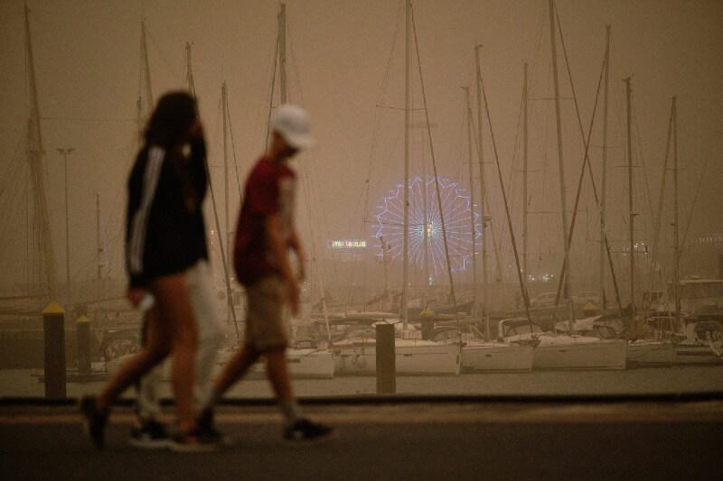 Impactos del polvo del Sahara