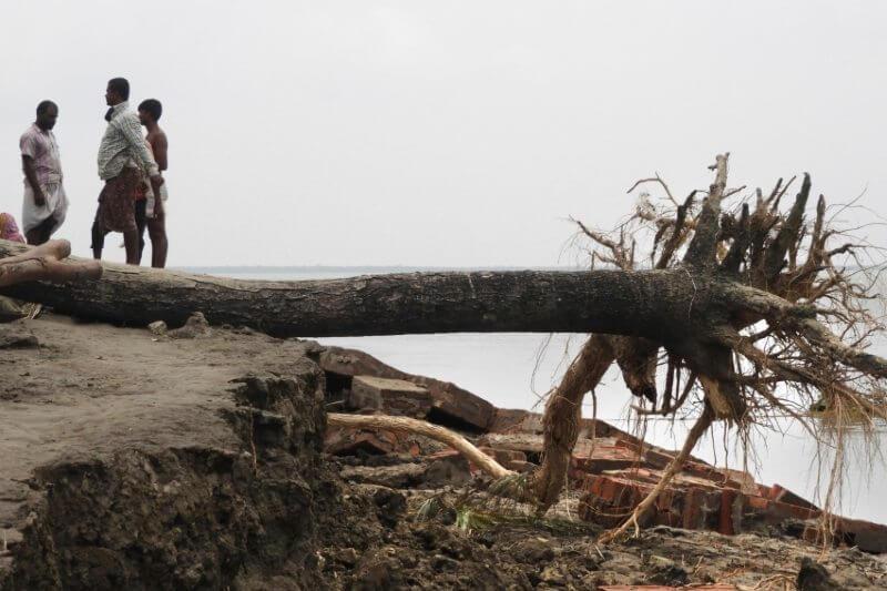 Sundarbans en Bangladesh destruido por el paso del ciclón Amphan