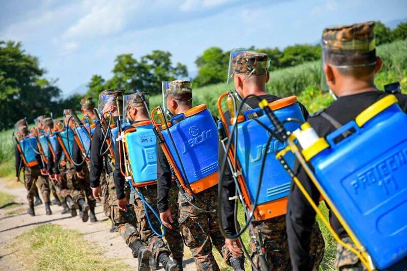 El Salvador planea usar aviones militares para combatir langostas