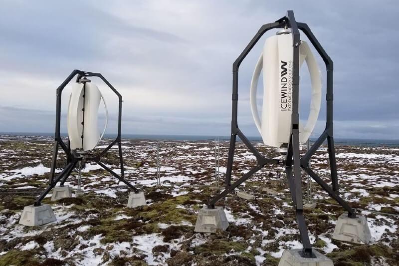 Icewind: mini turbinas eólicas residenciales
