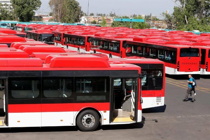 Santiago de Chile recibe 150 buses eléctricos