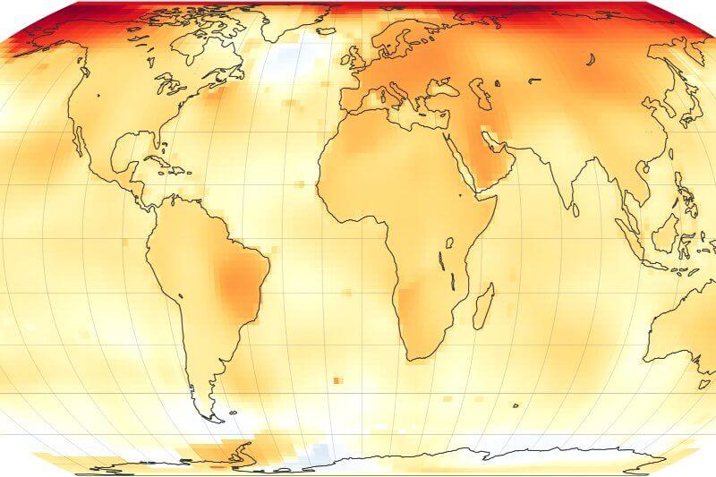 Temperatura Global a través del tiempo