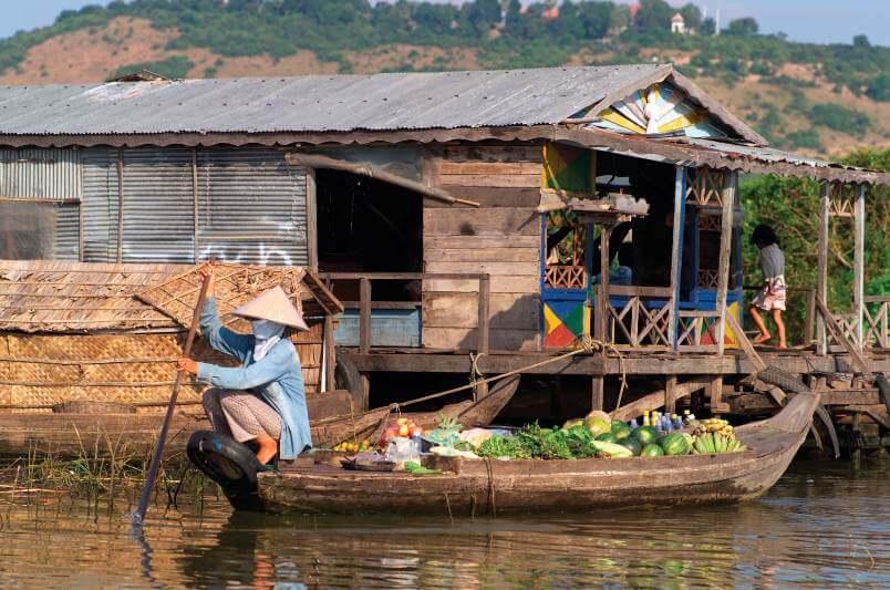 Lago camboya en amenaza ambiental