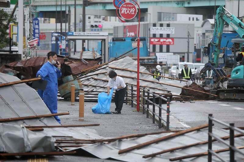 Tifón Haishen causa daños en Japón y Corea del Sur