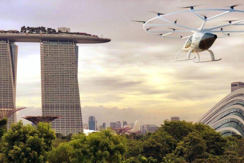 Volocopter: el taxi aéreo cero emisiones