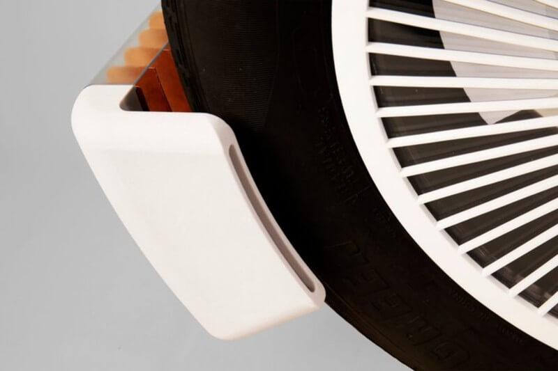 Dispositivo para recoger microplásticos de los neumáticos
