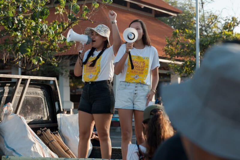 Hermanas en Bali llaman a la acción climática