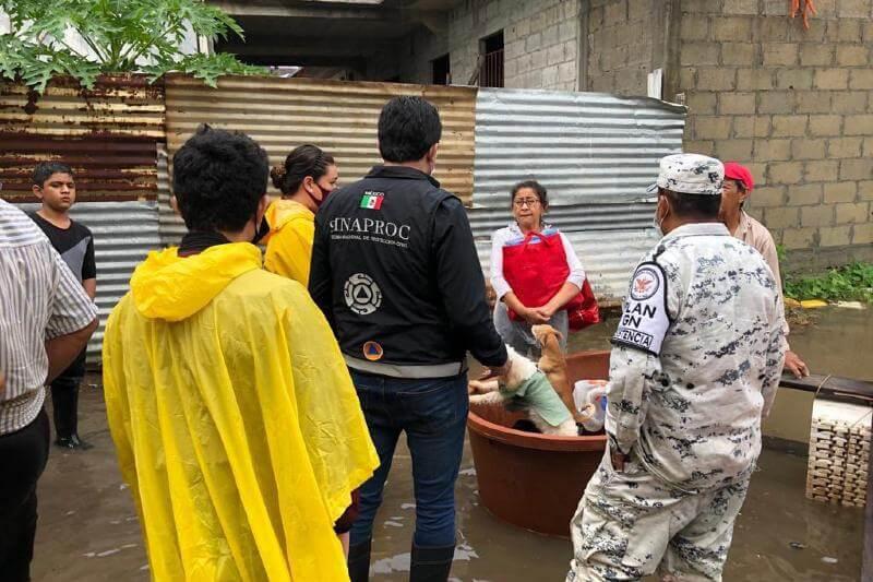México golpeado por tormenta tropical Gamma