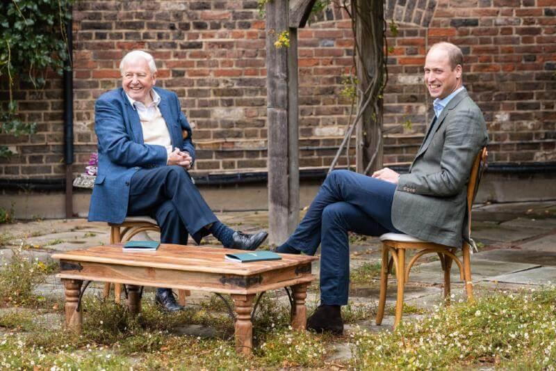 Príncipe William y David Attenborough financian premio Earthshot