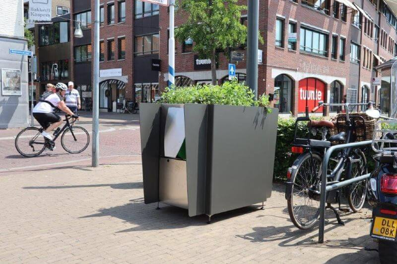 Urinarios verdes en Ámsterdam