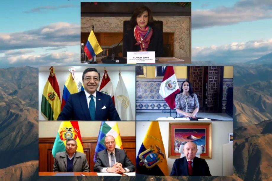 Ecuador, Perú, Colombia y Bolivia firman carta ambiental