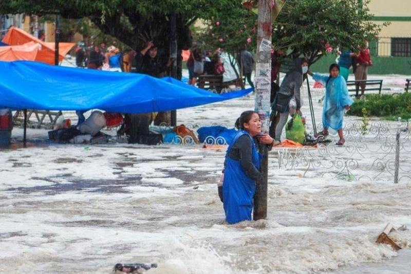 Tormenta de granizo en Sucre, Bolivia