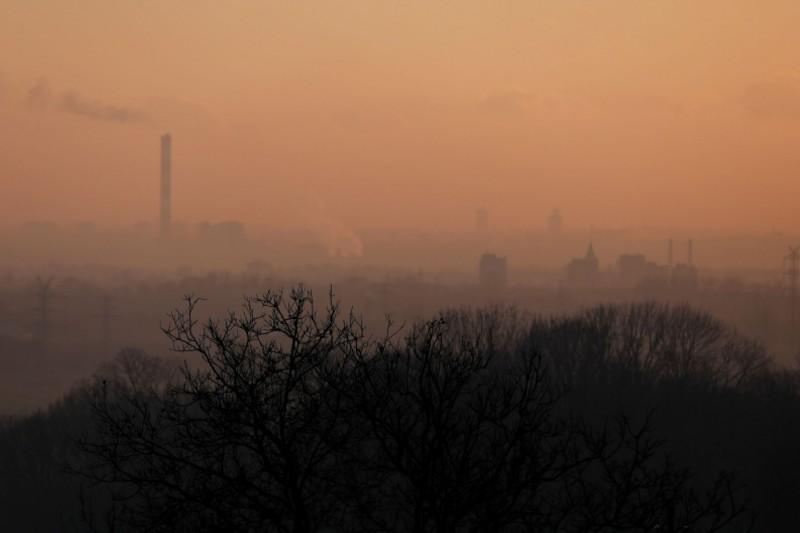 Calefacción de carbón en Polonia producen contaminación visible
