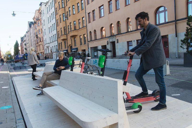 Suecia cambia sus aparcamientospor estaciones verdes