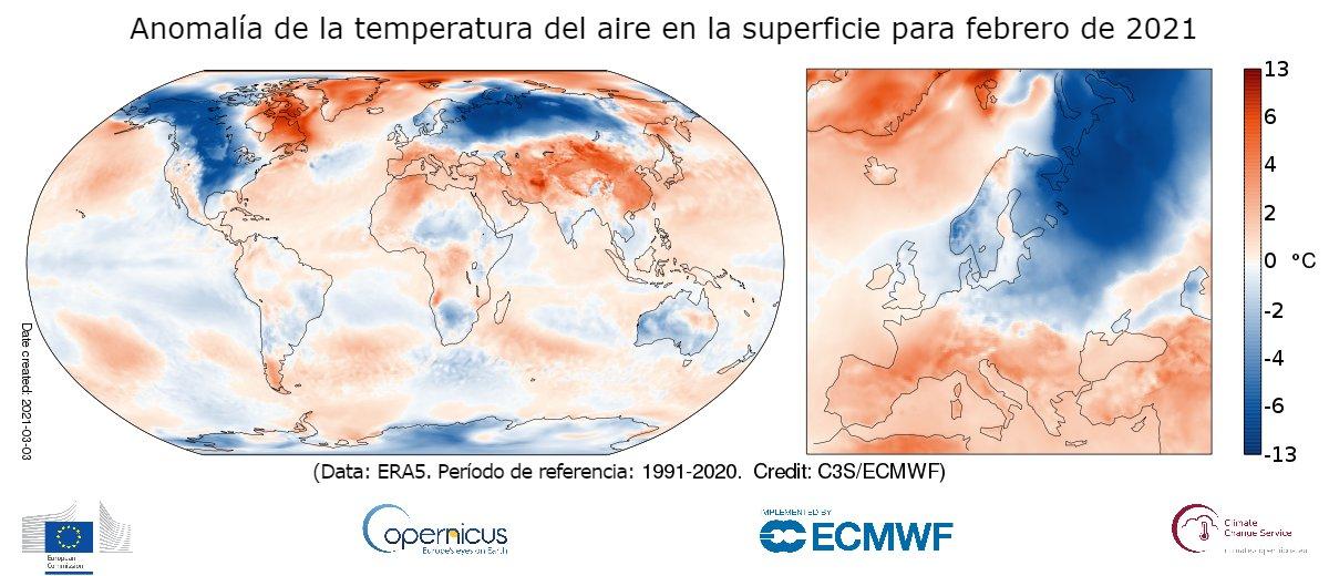 Período de referencia de temperatura - Fuente Copernicus