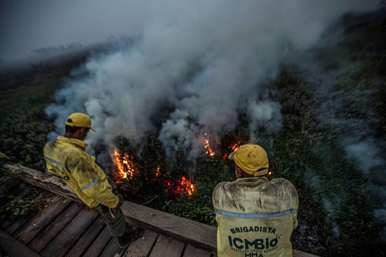 Incendio Forestal en la Amazonía, Mato Grosso - Foto por Carlos Ezequiel Vannoni/EFE