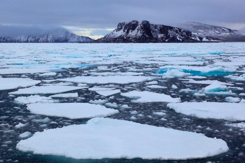 El océano ártico estuvo más cálido de lo normal en febrero