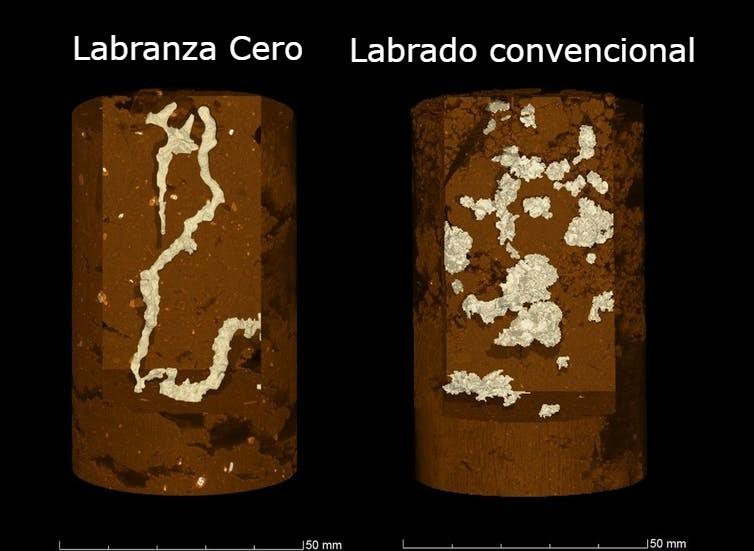 Se encontraron más bolsas de aire en el labrado convencional - Gráfica Cooper et al. (2021), Author provided