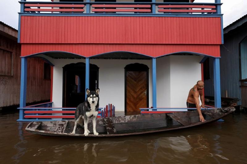 Brasil: Manaos inundada por desborde de ríos amazónicos