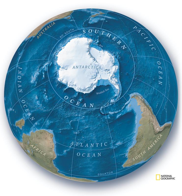 Así se ve el nuevo Océano Austral - NASA/JPL; Green Marble