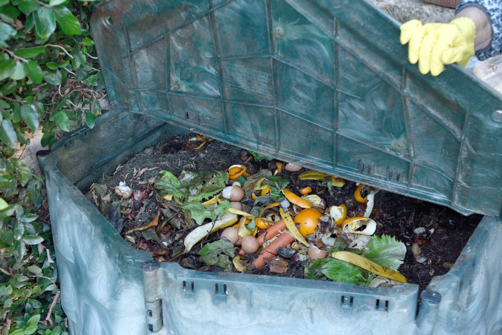 Contenedor de compost hecho en casa - Foto urtoicurto
