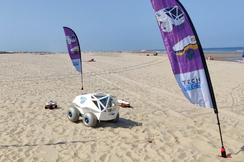 Este robot autónomo recoge colillas de cigarrillo de las playas
