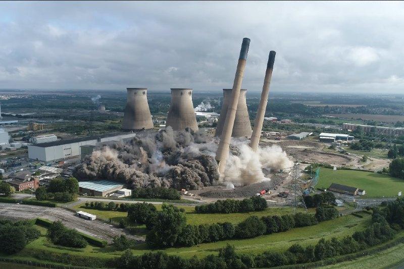 La central eléctrica de carbono de Keltbray finalmente termina su demolición.