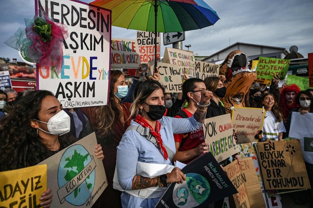 Huelga por el clima en Estambul, Turquía - Foto Ozan Köse/AFP/Getty Images