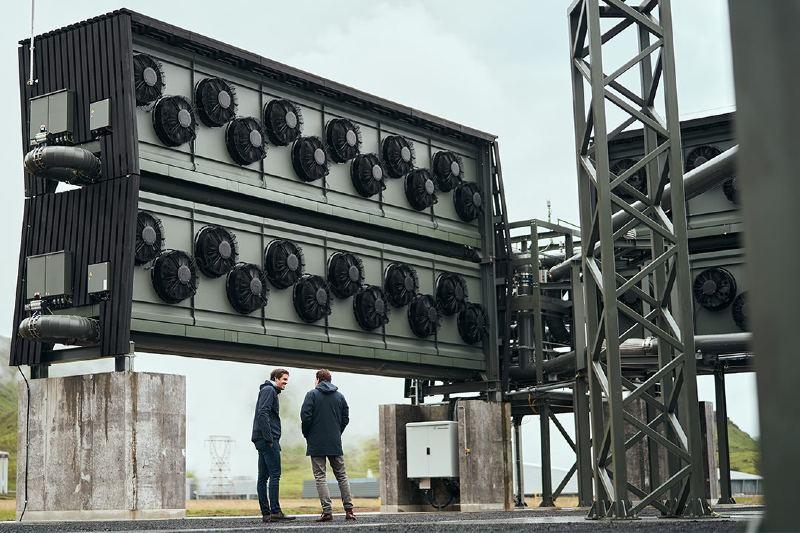 Construyen la planta de captura de carbono más grande del mundo en Islandia.