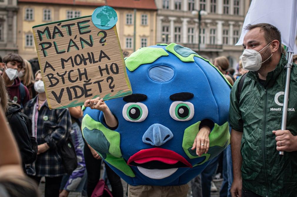 Protesta climática en Praga, República Checa - Foto Anadolu Agency/Getty Images