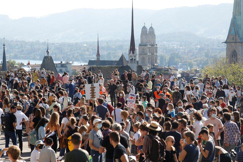 Huelga por el clima en Suiza - Foto Arnd Wiegmann/Reuters