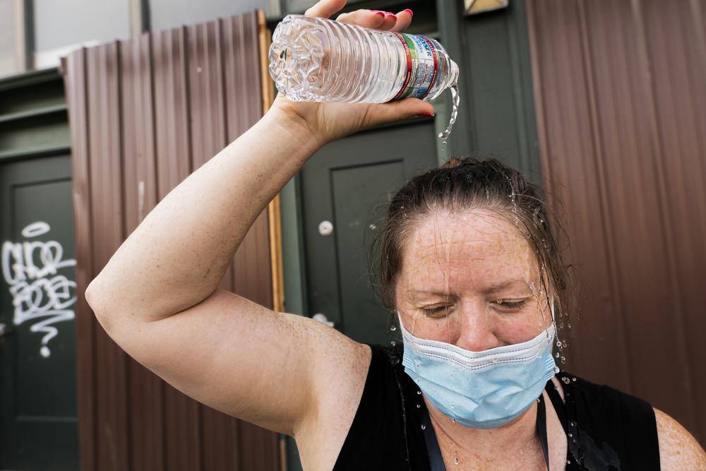 El calor extremo puede provocar daños permanentes a la salud. - Foto Nathan Howard/AP